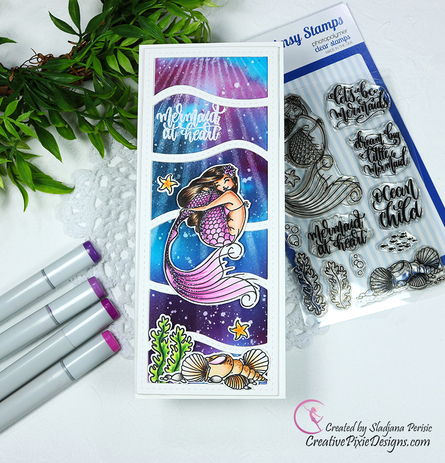 Whimsy Stamps Let's Be Mermaids