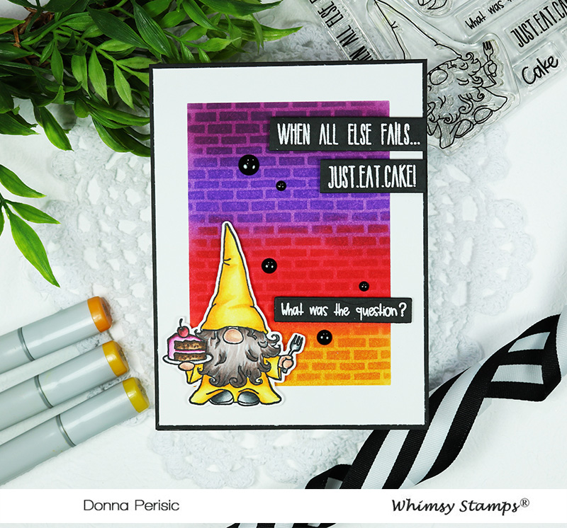 Whimsy Stamps Birthday Gnome