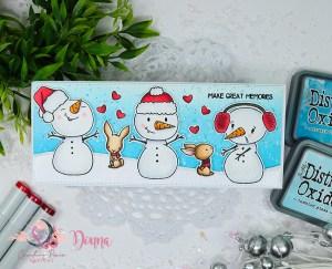 snowman stamp image