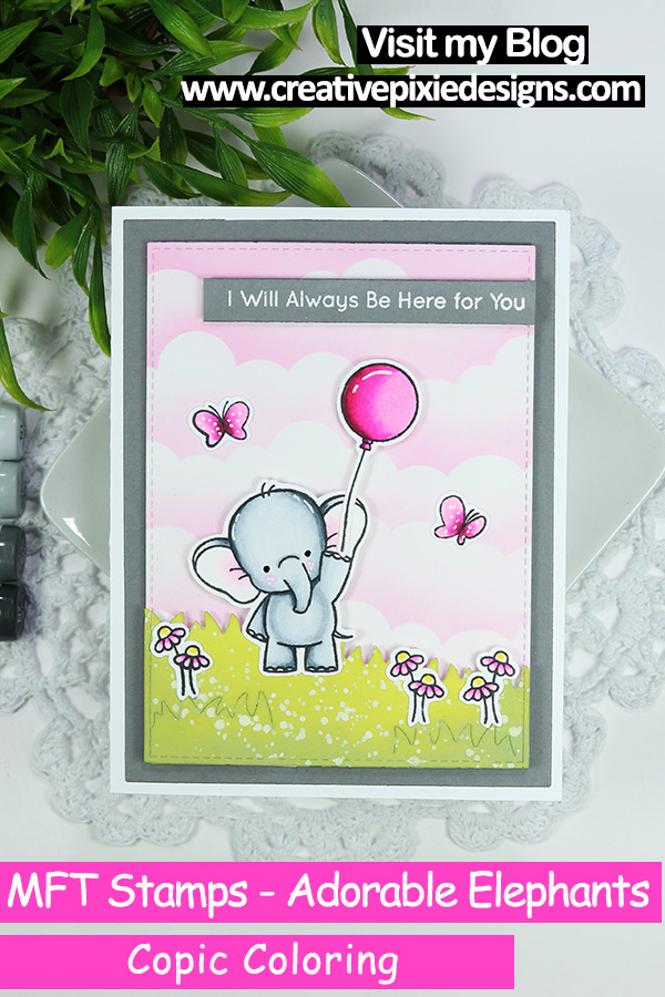 MFT Stamps Adorable Elephants