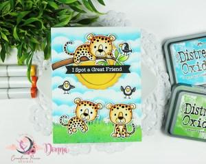 MFT Stamps Lovable Leopard