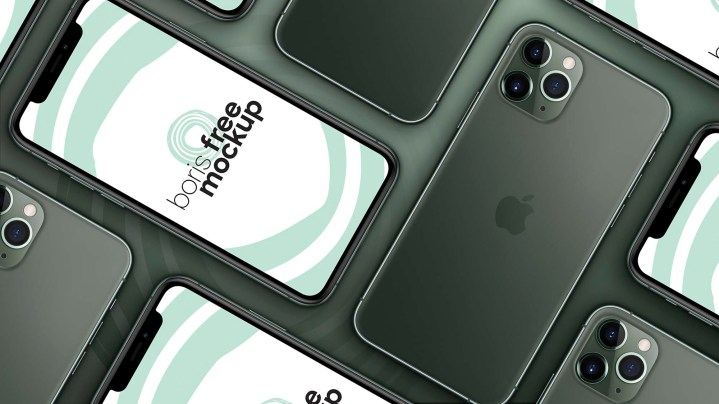 Multiple iPhone 11 Pro Max Mockup