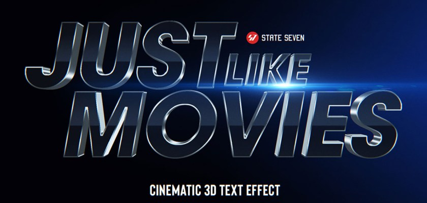 Free PSD Movie Cinematic Text Effect Mockup