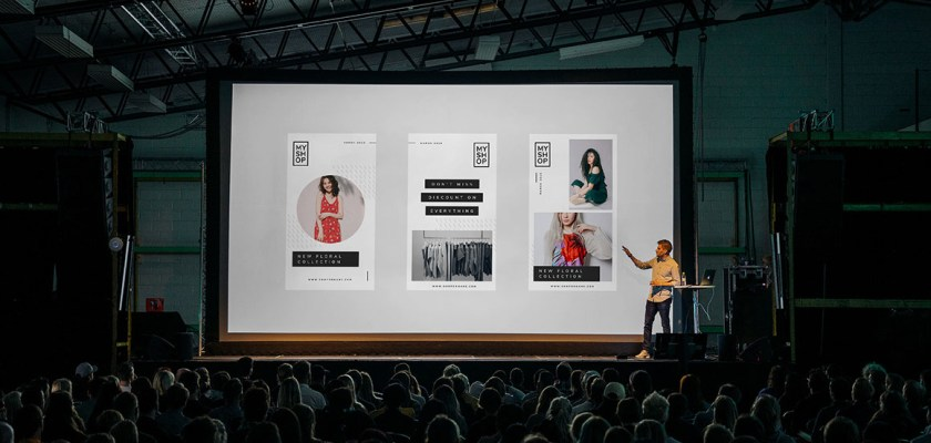 Free PSD Presentation on The Wall Mockup