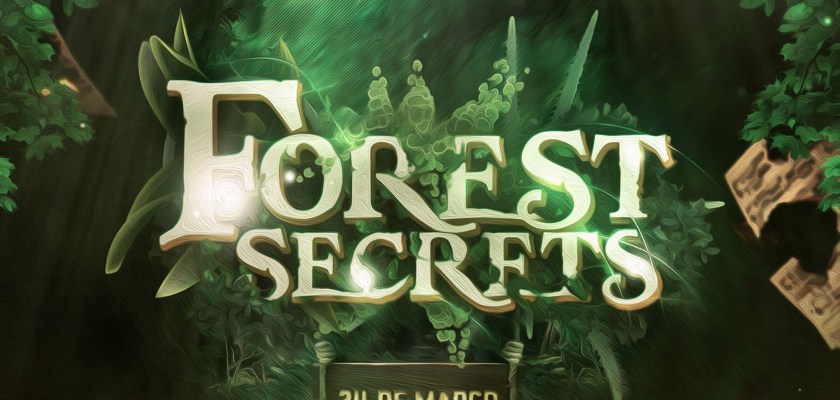 Free PSD Secret Forest Text Effect Mockup
