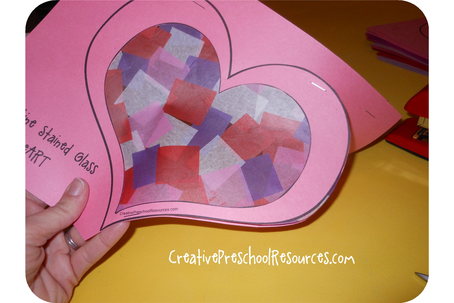Valentine Stained Glass Heart