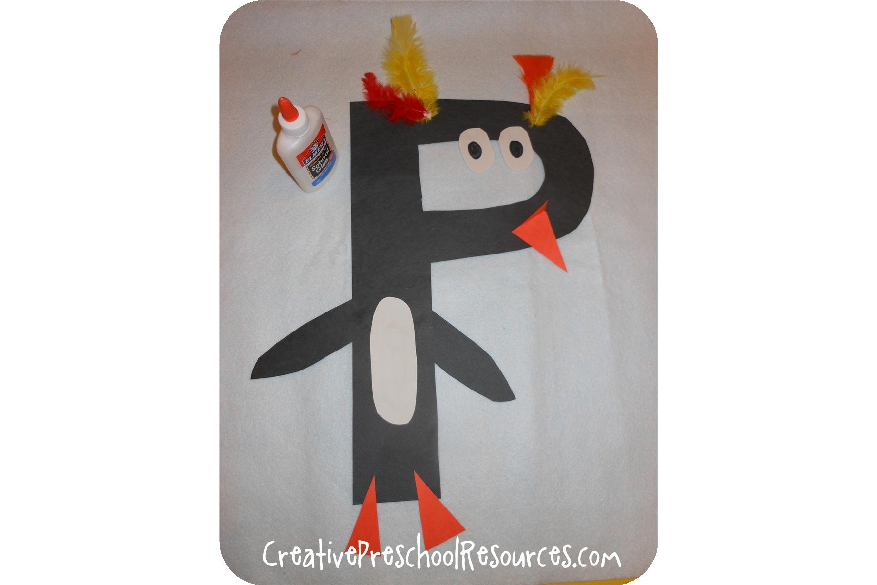 Letter P Penguin