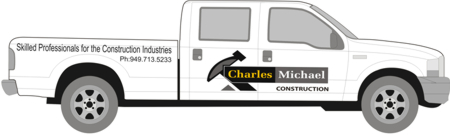 Custom Business Truck Sign Design-Charles Michael Truck Logo