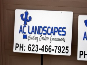 Creative Print Web Design-Custom Project Signs-AC Landscapes