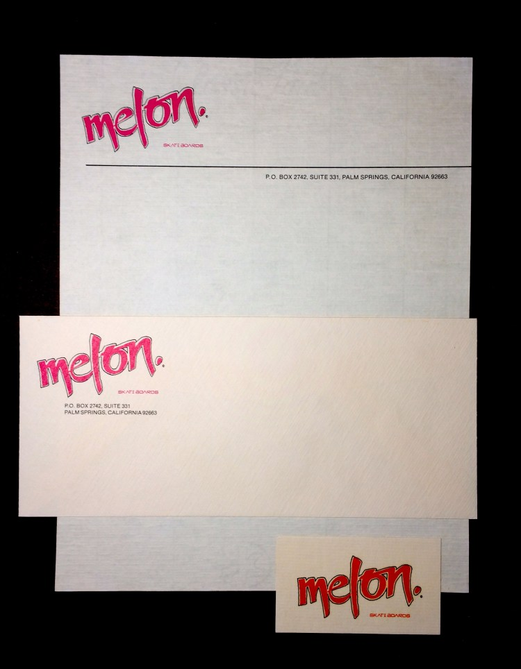 Creative Print Web Design-Custom Stationary Design-Melon Skateboards