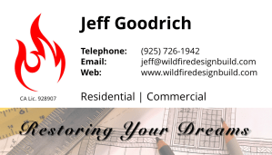 2018 Wildfire Business Card Design-Rear