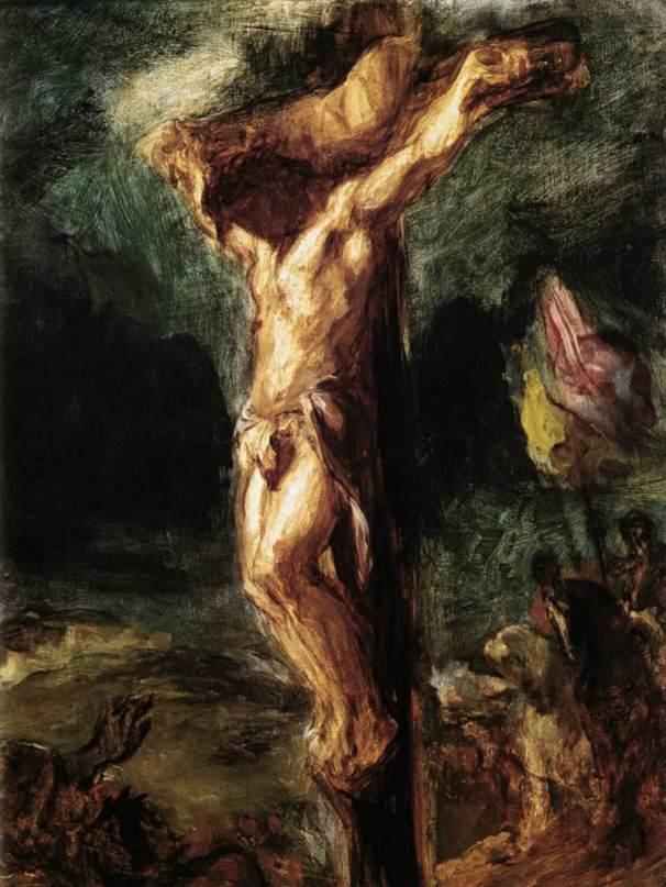 Eugene Delacroix, Cristo in croce, 1845, Rotterdam, Museum Boijmans Van Beuningen