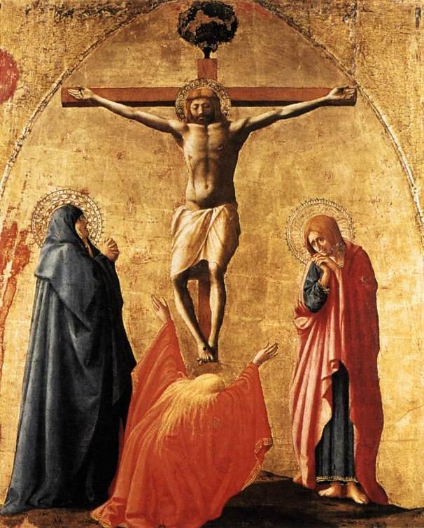 Masaccio, Crocifissione, 1426ca, Museo di Capodimonte, Napoli