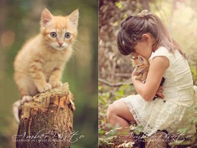 Giorgia e il gattino Simba