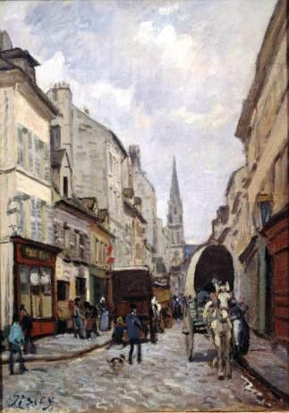 sisley, Grande Rue in Argenteuil, 1872, Norwich Castle Museum and Art Gallery, Norwich