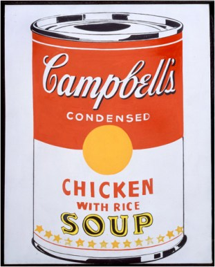 Campbell's Soup Can (Chicken With Rice), 1962, Courtesy The Brant Foundation, Greenwich, CT, USA