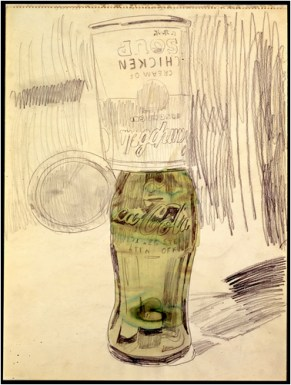 Campbell's Soup Can Over Coke Bottle, 1962, Courtesy The Brant Foundation, Greenwich, CT, USA