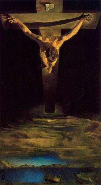 dalì, Cristo di San Giovanni della Croce, 1951, glasgow