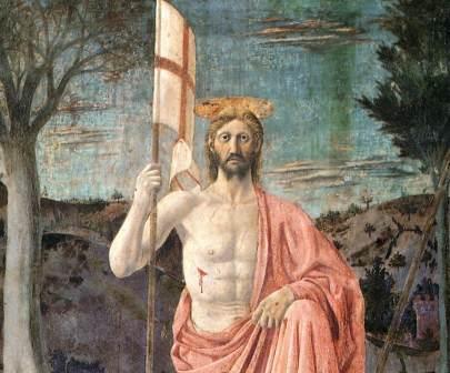 Piero della Francesca, Resurrezione, 1463-65, Sansepolcro, Pinacoteca Comunale dett.