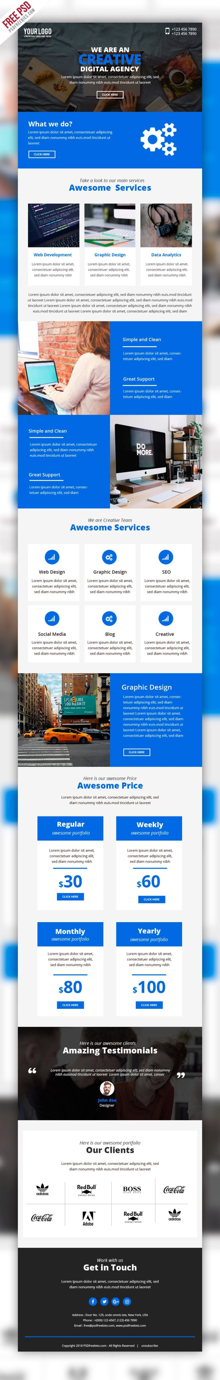 Business Marketing Emailer Template PSD