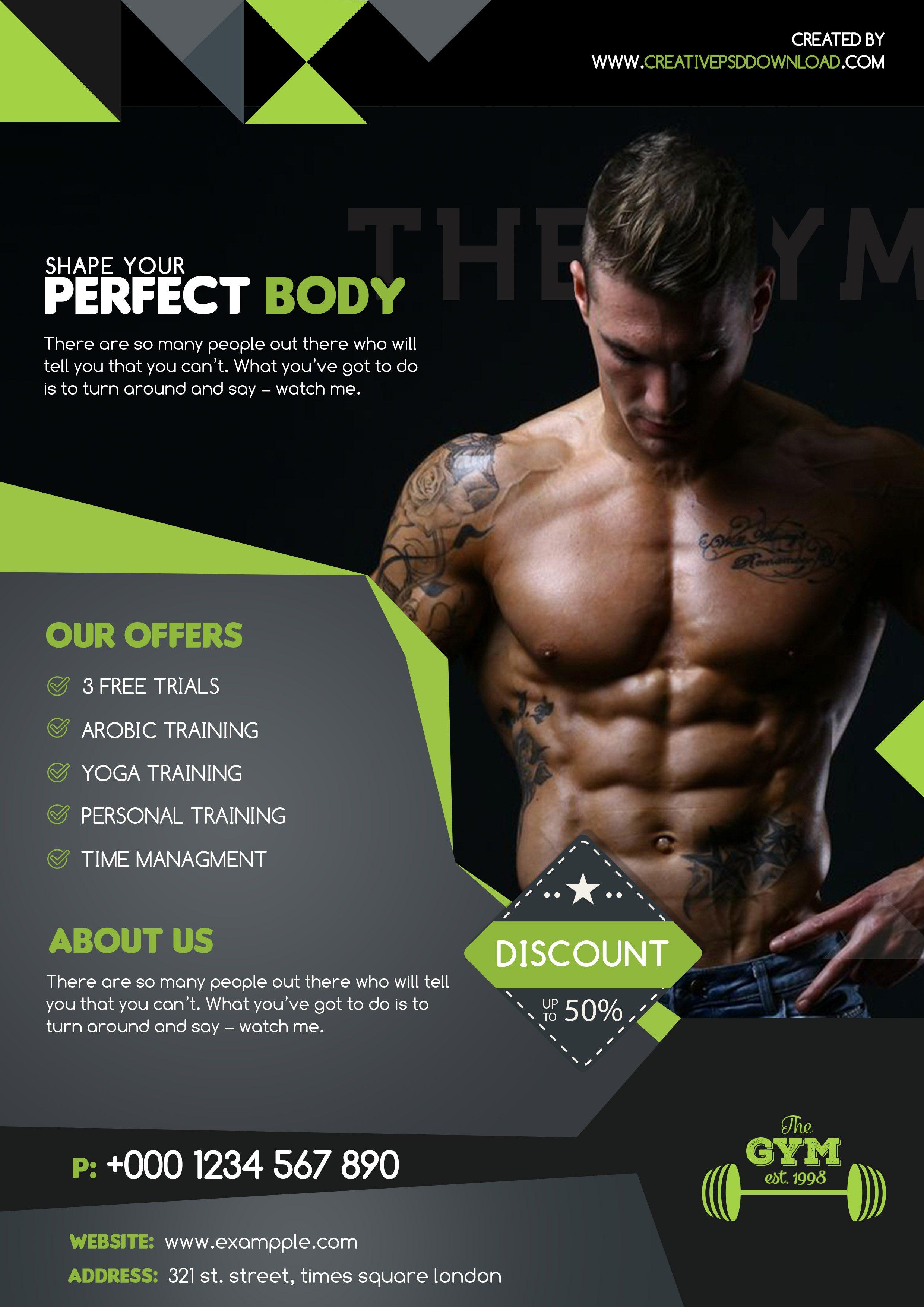 Premium Fitness Flyer Free PSD Template