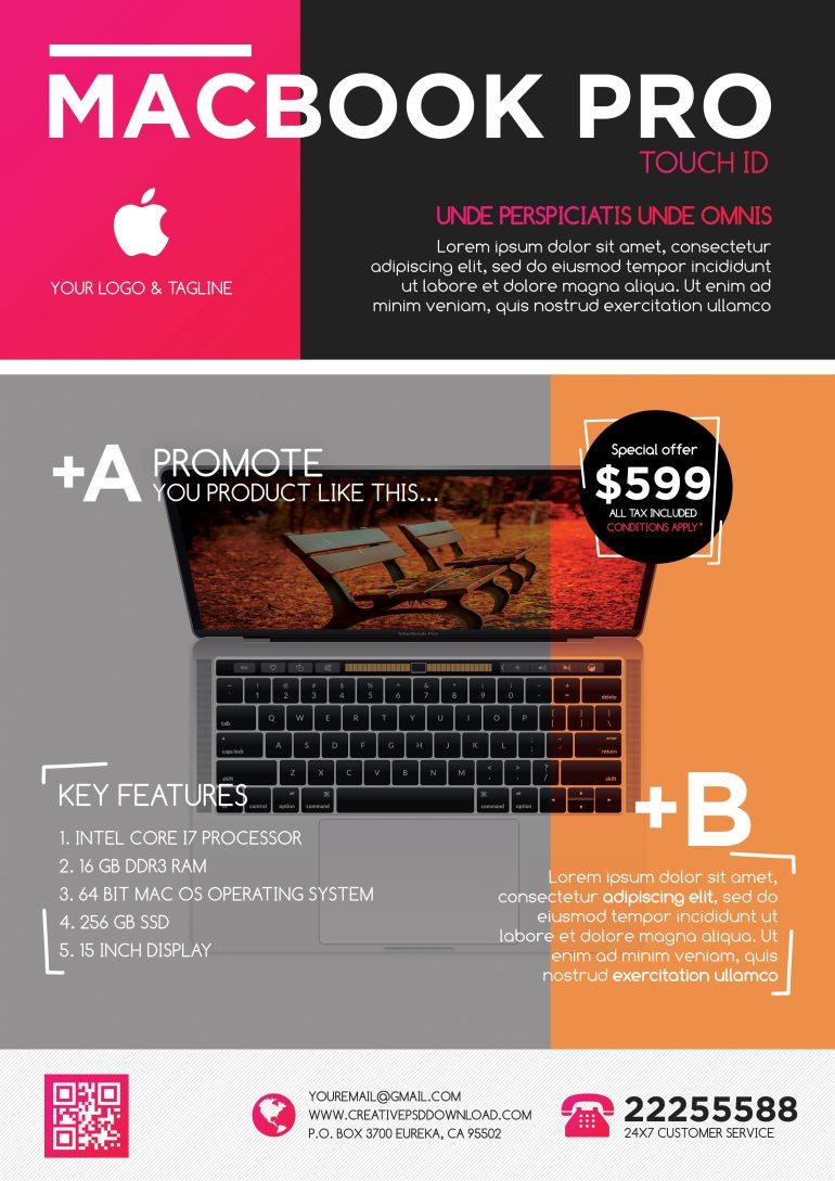 Corporate Sale [MacBook] Free Flyer PSD
