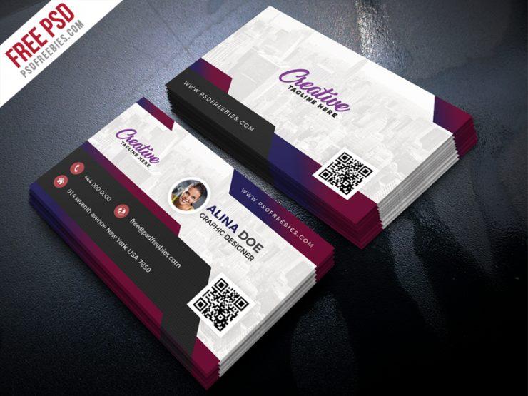 Free Modern Business Card Design PSD