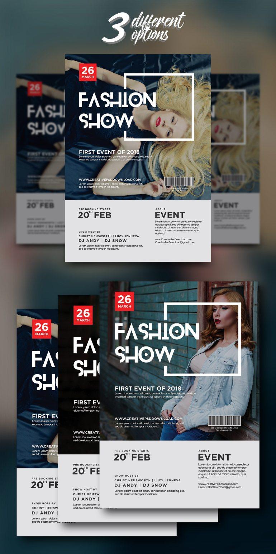Fashion Show Flyer PSD Bundle Freebie