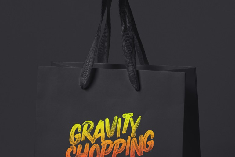 Anti-Gravity Shopping Bag Mockup