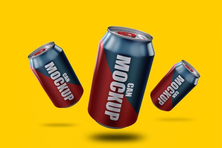 Soda Cans Mockup Bundle