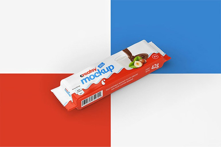 Set of Chocolate Bar Mockups