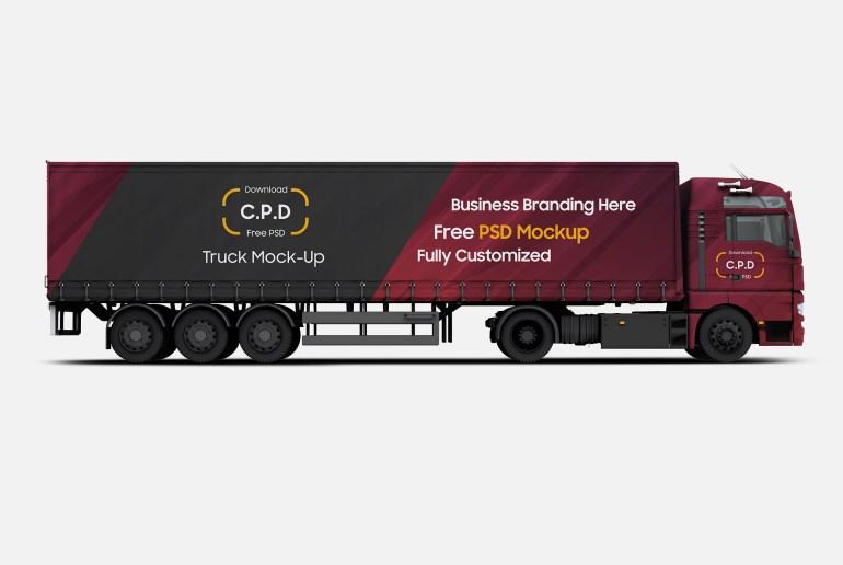 Truck Mockup Free PSD