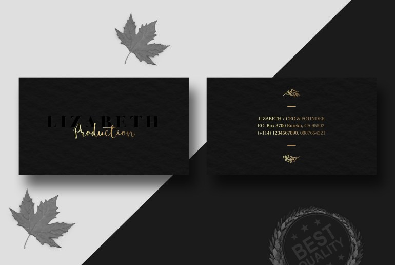 Dark Business Card Design Free Psd