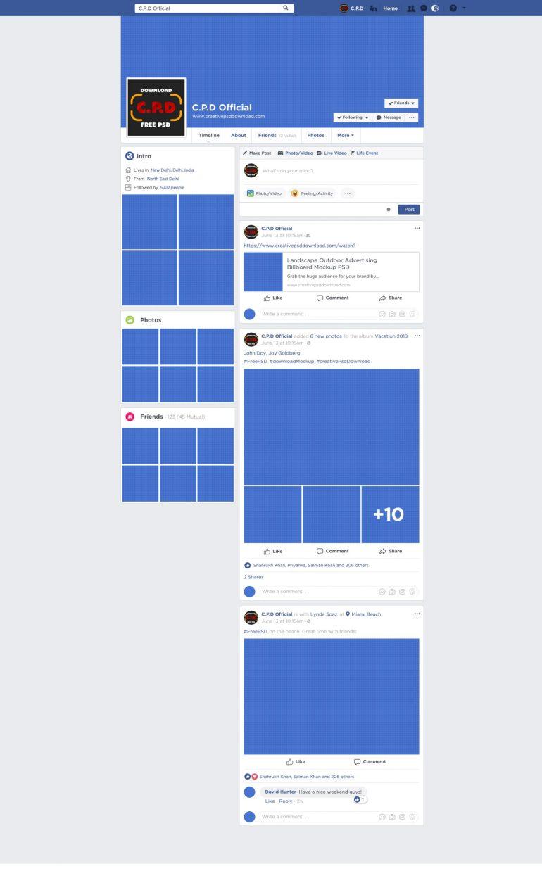 Facebook Cover Mockup Fully Editable PSD