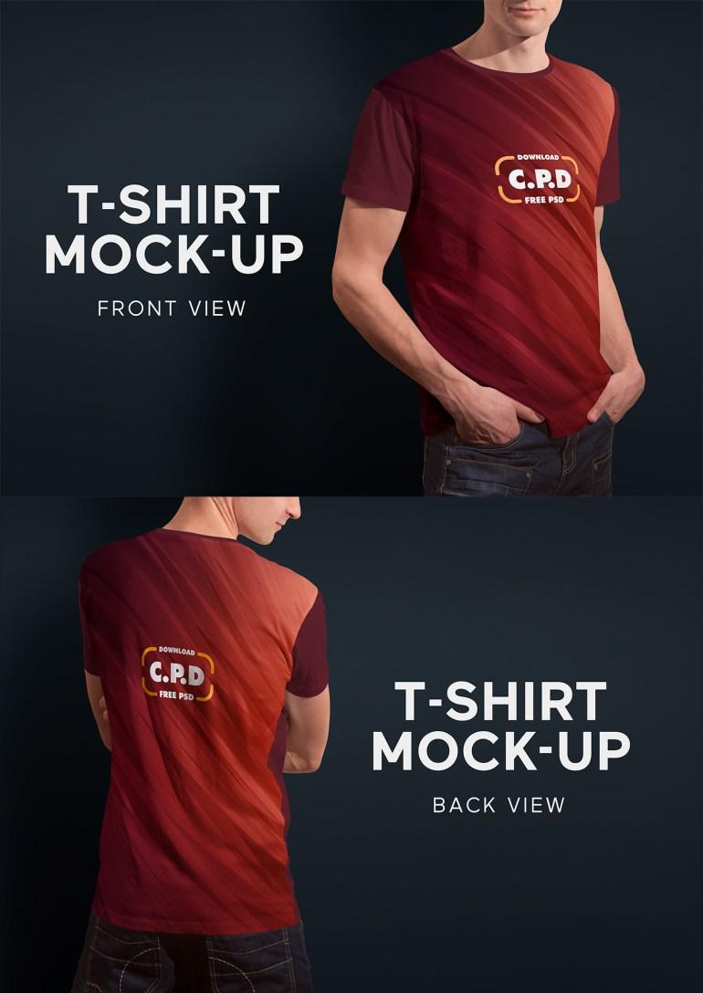 T-Shirt Mockup Front and Back