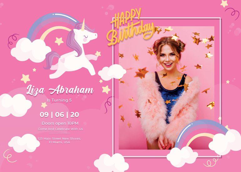 Birthday Party Invitation Card Creative Free PSD