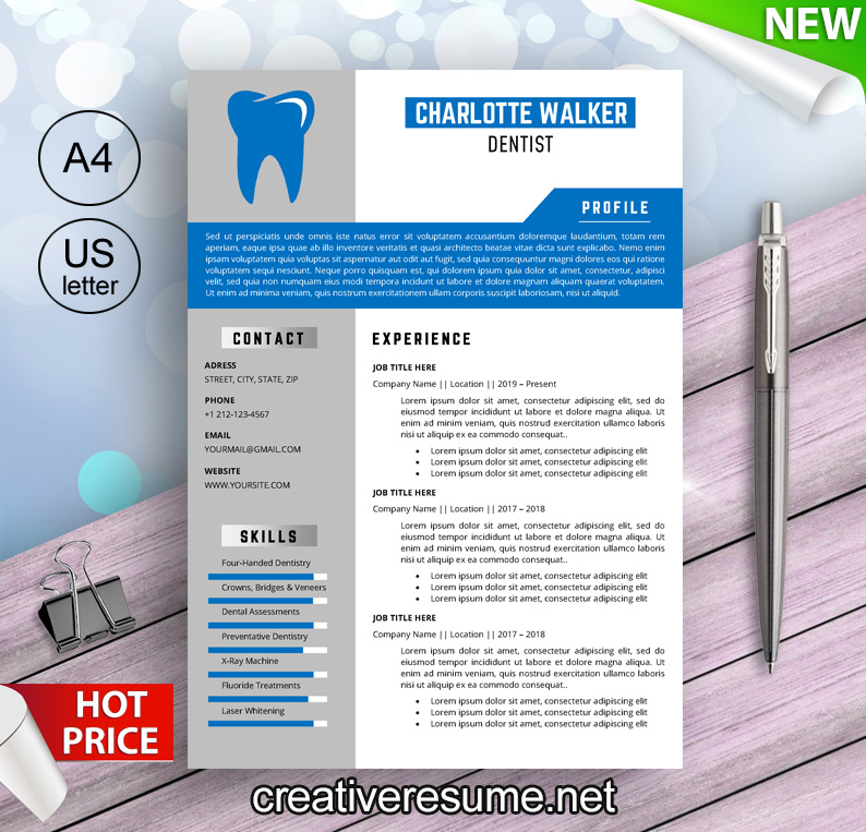 This dental assistant job description template is optimized for posting on online job boards or careers pages and easy to customize for your company. Dental Hygienist Resume Template In Word Doc Creativeresume Net