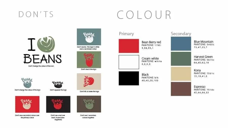 Beans BVI Branding Dont and Colour Pallette