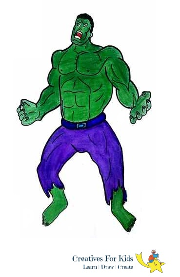 How To Draw Hulk Step By Step Tutorial