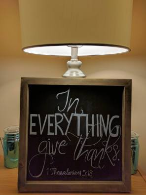 This adorable chalk board I bought at Hobby Lobby and used it for our wedding. Love being able to re-use it.