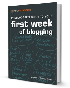 Cover of book of First Week of BLogging