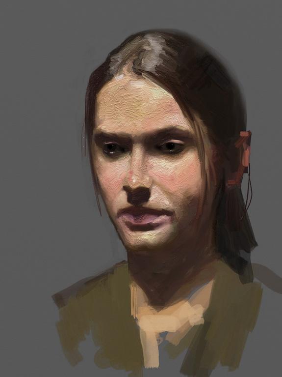 ArtRage painting of Arielle Kogut by David Jon Kassan
