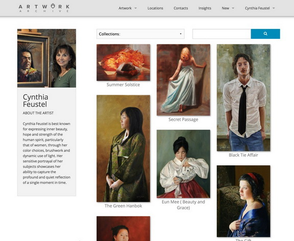 Public Profile Page on Artwork Archive