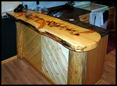 Counter Top  Bar for Kitchen  Creative Sawmilling and