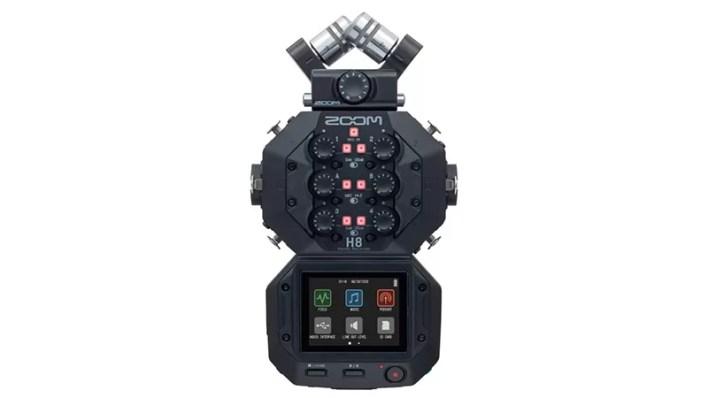 الاعلان عن Zoom H8 جهاز تسجيل صوت احترافي بشاشة لمس لصناع الافلام ومهندسي الصوت