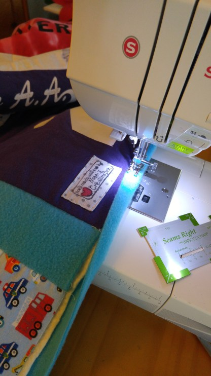 Binding the memory quilt border
