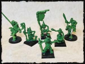 Chaos Goblin Command unit