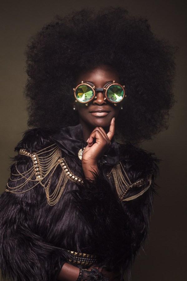 Black Women Natural Afro Hair Art