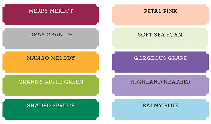 Stampin' Up! New Core Colors