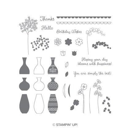 Varied Vases stamp set